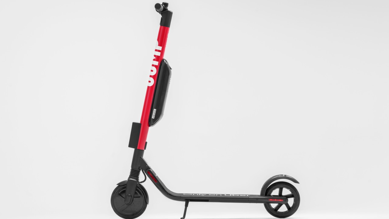 Uber's JUMP dockless scooter