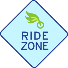 Ride Zone traffic sign